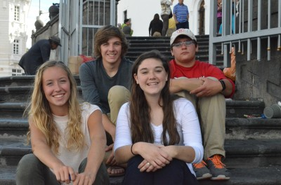 El Refugio interns, Michael & Noah, here with the Westover Church mission group members Virginia & Sarah!
